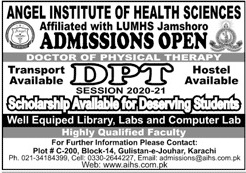 admission announcement of Angel Institute Of Health Sciences