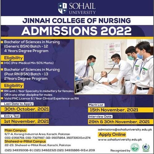 admission announcement of Sohail University