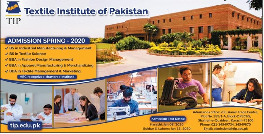 Tip Karachi Admission 2020 Undergraduate Admission
