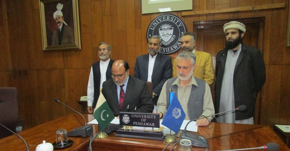 Eduvision and University of Peshawar singed MoU for Career Counselling