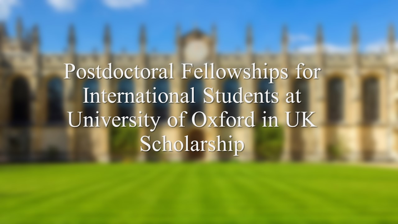Postdoctoral Archives - Scholarship for Africans