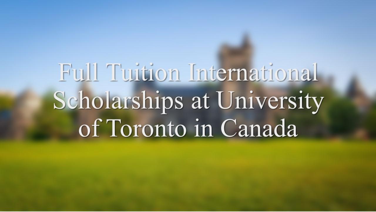Full Tuition International Scholarships at University of
