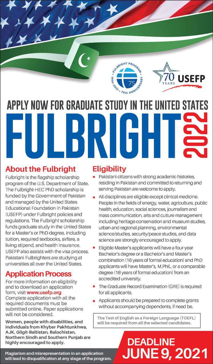 Usefp Fulbright Scholarship For Masters And Phd