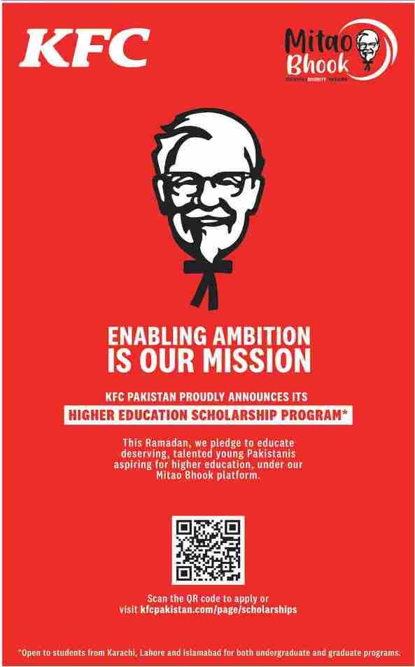 KFC HIGHER EDUCATION SCHOLARSHIP 2021