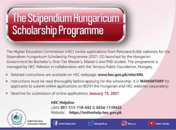 Hec Stipendium Hungaricum Scholarship For Bachelor Masters And Phd