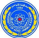 UNIVERSITY OF AZAD JAMMU & KASHMIR
